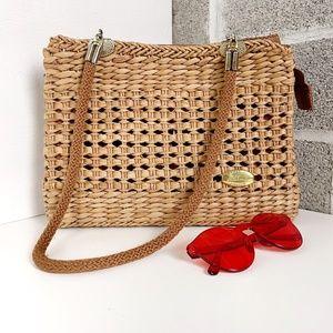 Vintage Alma Wicker Bag Purse